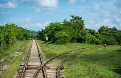 Train tracks. In Cuba Photo taken on: Sep, 2015 stock images