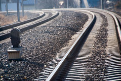 Train tracks curve Royalty Free Stock Images