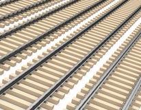 The train tracks Stock Photos