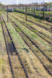 Train Tracks in depot Royalty Free Stock Image