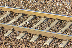 Train Tracks in depot - detail. Detail of train tracks in Basarab Railway Station - the depot, in north of Bucharest, Romania, Europe royalty free stock images