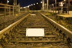 Train tracks empty sign Royalty Free Stock Photography
