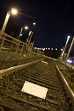 Train tracks empty sign Stock Image