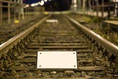 Train tracks empty sign Royalty Free Stock Photos