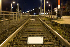 Train tracks empty sign Stock Photography