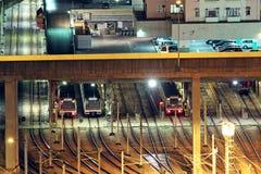Train tracks in hongkong royalty free stock photos