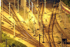Train tracks in hongkong Stock Image