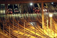 Train tracks in hongkong stock image