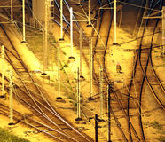 Train tracks in hongkong Stock Photos