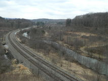 Train tracks. These are train tracks in Johnstown, Pennsylvania Stock Image