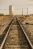 Train Tracks Leading to the Horizon Stock Photos