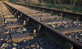 Train tracks leading to the sunset Royalty Free Stock Photos