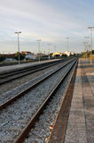 Train tracks at Leiria Stock Image