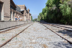 Train Tracks Mendoza Stock Photo