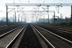 Train tracks. Near a railstation Stock Images