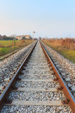 Train tracks in perspective Stock Images
