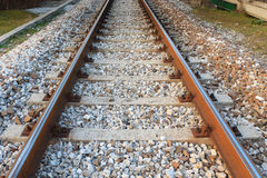 Train tracks in perspective Royalty Free Stock Photos