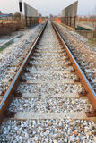 Train tracks in perspective Royalty Free Stock Images
