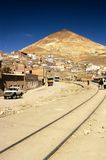 Train tracks - Potosi, Bolivia. This image shows the town of Potosi in Bolivia Royalty Free Stock Photography