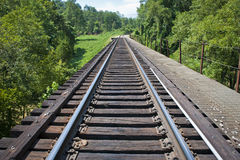 Train Tracks Through Rural Tennessee Stock Image