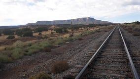 train tracks Santa fe new Mexico royalty free stock photo