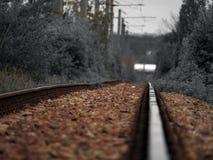 Train tracks - selective colour Royalty Free Stock Photography