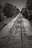Train tracks. Seneca lake backroads Stock Photo