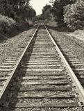 Train Tracks, Sepia Royalty Free Stock Photo