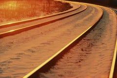 Train tracks with snow Stock Image