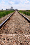 Train tracks to mine site Royalty Free Stock Photo
