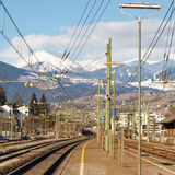 Train Tracks to the Mountains Royalty Free Stock Images