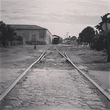 Train tracks. Trinidad, cuba (End of the Line stock photo