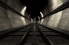 Train Tracks And Tunnel Royalty Free Stock Photography