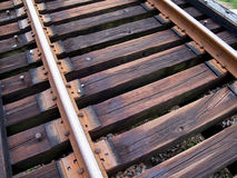 Train Tracks Up Close Royalty Free Stock Photos