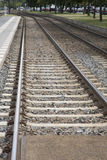 Train Tracks in Urban Setting, Berlin, Royalty Free Stock Images