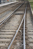 Train Tracks in Urban Setting, Berlin, Royalty Free Stock Photography