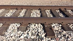 Train tracks. Vintage train tracks Royalty Free Stock Photo