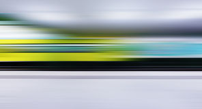 Train traffic with high dynamic motion blur Royalty Free Stock Photos