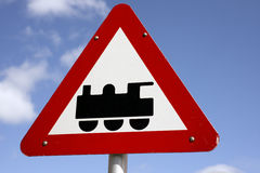 Train traffic sign Royalty Free Stock Photos