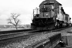 Train Train. Train, Railway through the desert, high desert, locomotive Stock Photography