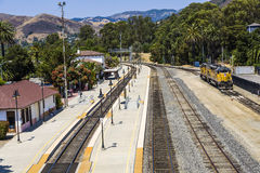 Train at the train station from San Luis Obispo Royalty Free Stock Photo