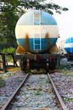 Train transfer oil to other place, Cargo business for transfer oil from station to other place Stock Photography