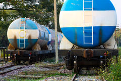Train transfer oil to other place, Cargo business for transfer oil from station to other place Royalty Free Stock Photography
