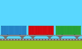 Train transport background  Stock Images
