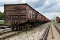 The train transportation. The train cargo transportation theme Stock Photography