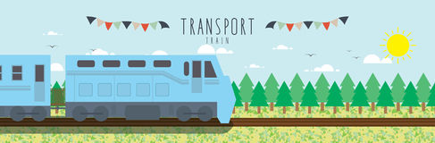 Train (Transportation). Vector file useful, which about transportation Royalty Free Stock Image