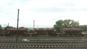Train transporting diverse material for the heavy industry and industry sectors stock video footage