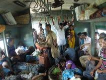 Train travaling stock photo