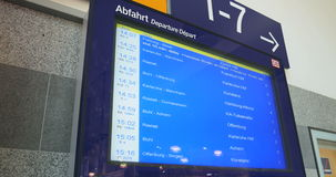Train travel timetable stock video