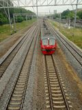 The train travels by train, Moscow royalty free stock photo